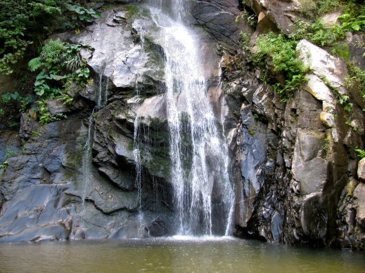 The water fall in the village