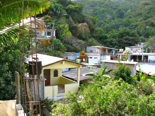Yelapa village above the dock