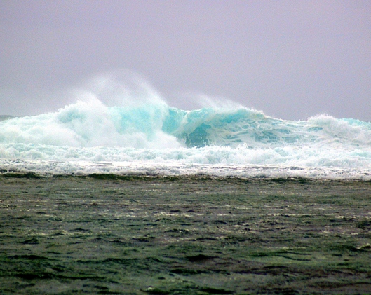 The waves are building as the storm approaches