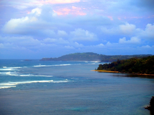 The colours of the seascape in Kauai