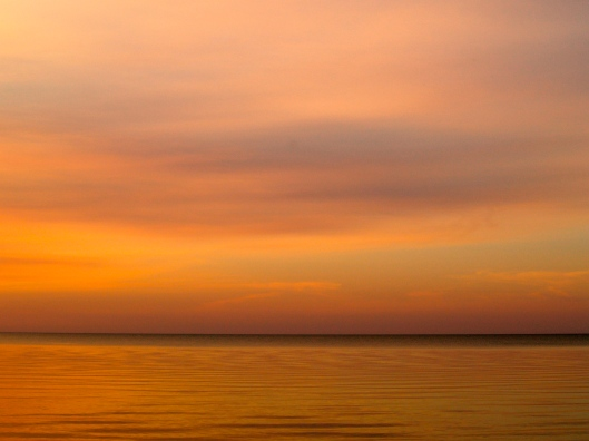 A soft Sunset at Hillside Beach, Manitoba
