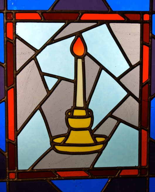 A Stained Glass Memorial window (St. Barnabas Anglican Church, Winnipeg)