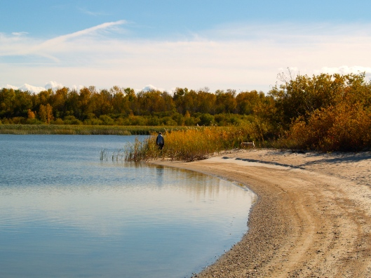 A quiet walk along the shore of Lake Winnipeg