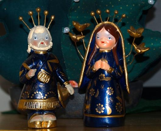 Mary united with Joseph.