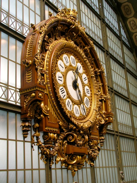 "Clock in Musee d""Orsay Paris. Time is relative."