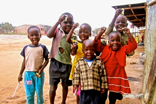 Ugandan Children orphaned through the aids epidemic