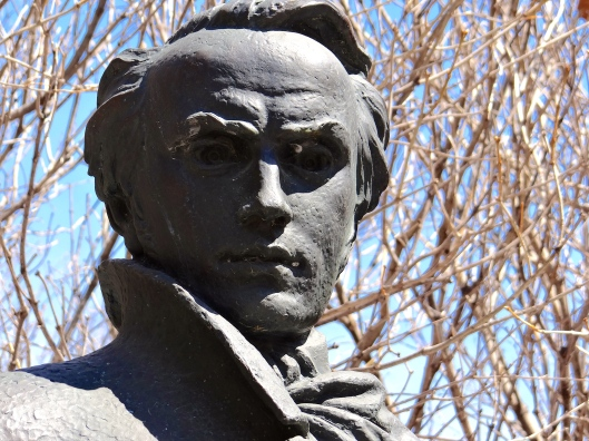 Head detail of Taras Shevchenko, Ukrainian poet  and painter.
