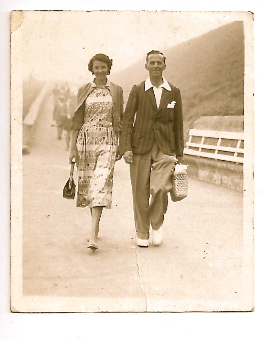 Mum and Dad on the prom at Westbrook