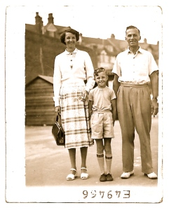 Mum and Dad and me on the promenade (the prom) at Westbrook