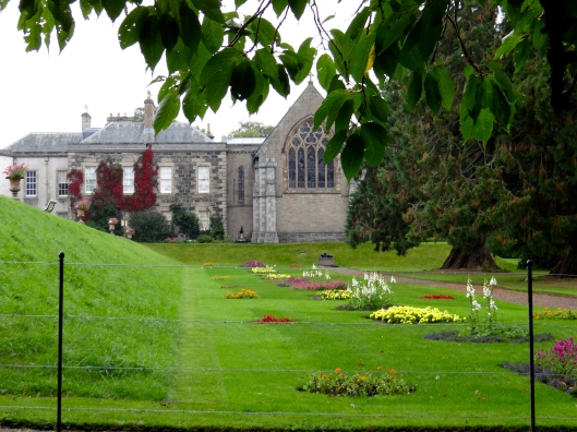 Haddo House and chapel from the lower garden