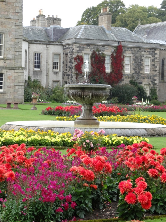 Haddo House formal gardens and fountain