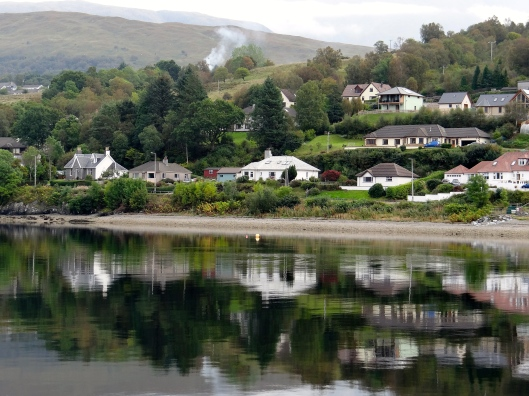Reflections of Fort William area from Loch Linnhe