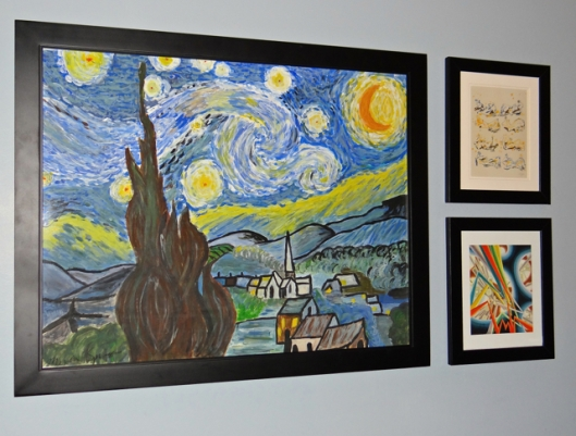 Starry Night 2 and two prints.