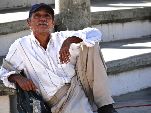 We were resting by the amphitheatre.  I couldn't resist a series of this man with such character