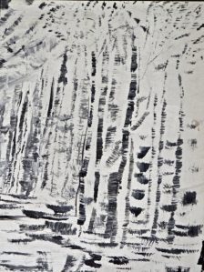 This is a small study I did in black and white.  It reminds me a little of Pole Hill in winter.
