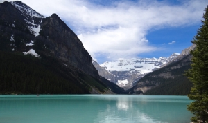 I never tire of the emerald green colour of the lakes in the Rockies