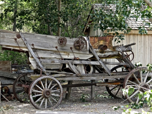 The old wagon from the grist mill