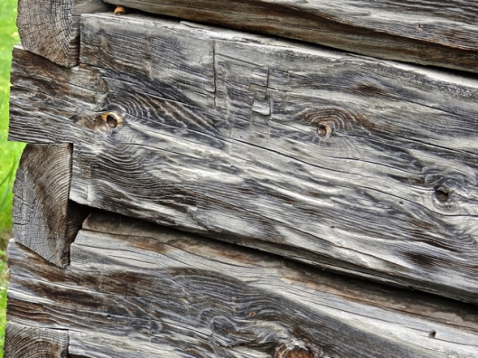 Such character in these old grist mill timbers.  Notice the dove-tailing.